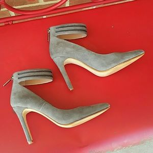 Banana Republic Shoes - Gray Suede Ankles